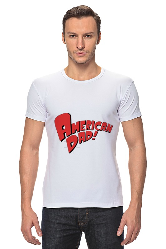 Футболка Стрэйч Printio American dad. футболка стрэйч printio новый папа 2017 загрузка