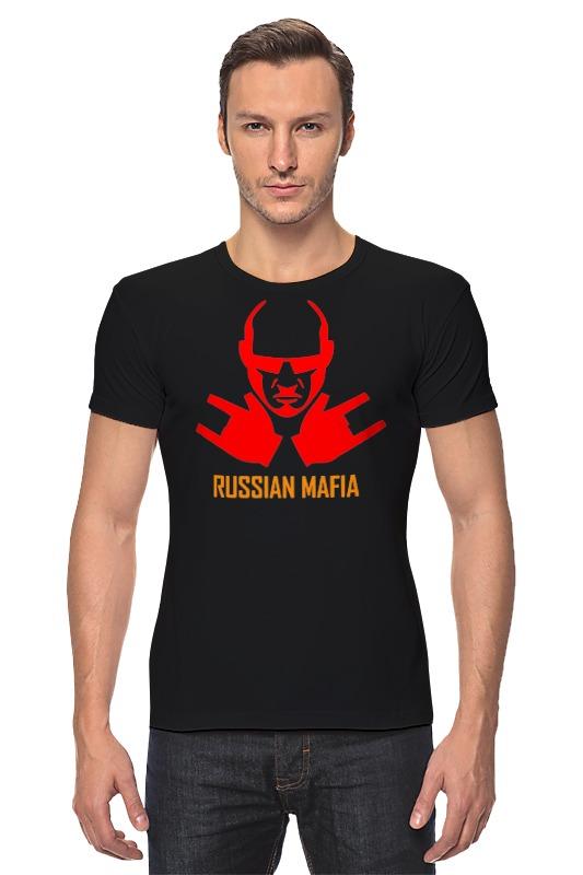 Футболка Стрэйч Printio Russian mafia russian phrase book