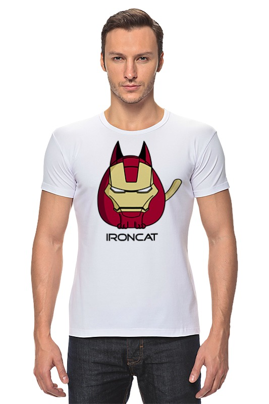 Футболка Стрэйч Printio Железный кот футболка стрэйч printio черно белый кот
