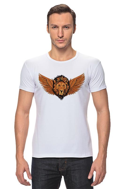 Футболка Стрэйч Printio Крылатый лев