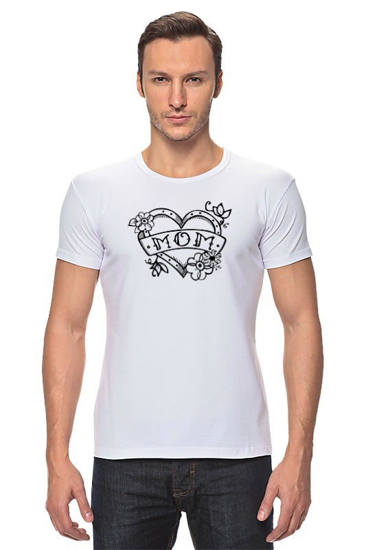 Футболка Стрэйч Printio Мама (сердце) футболка стрэйч printio моряк попай