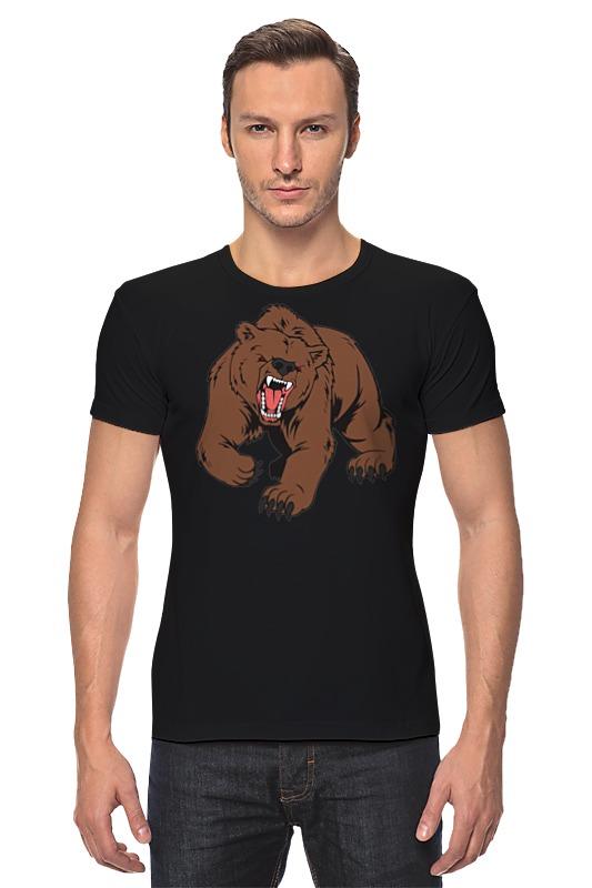 Футболка Стрэйч Printio Bear / медведь лонгслив printio bear beer медведь и мед