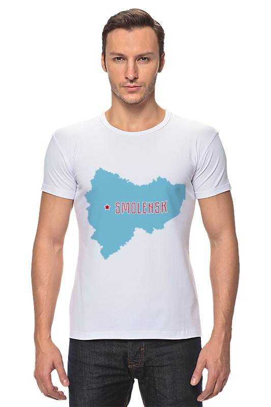 Футболка Стрэйч Printio Смоленская область. смоленск