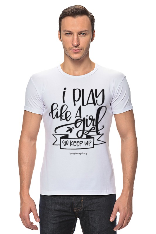 все цены на Футболка Стрэйч Printio Я играю как девчонка! онлайн
