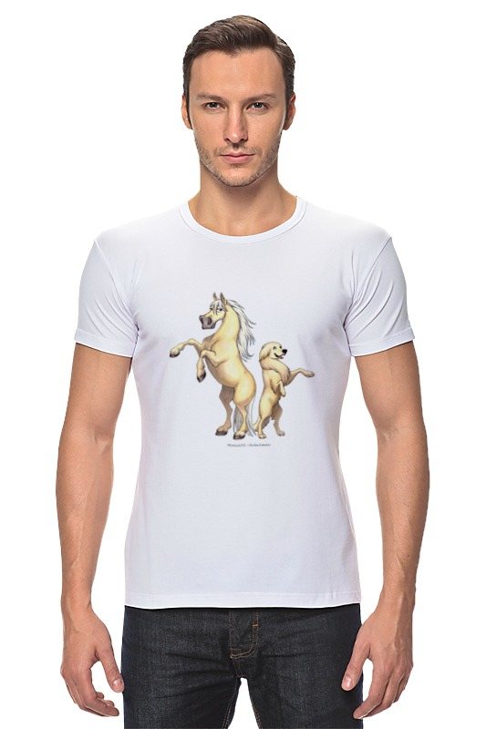 Футболка Стрэйч Printio Соловый пони/золотистый ретривер купить щенка золотистый ретривер в симферополе