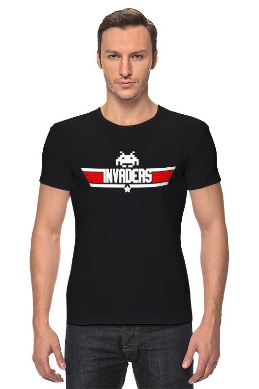 Футболка Стрэйч Printio Invaders x top gun футболка asics футболка layering top