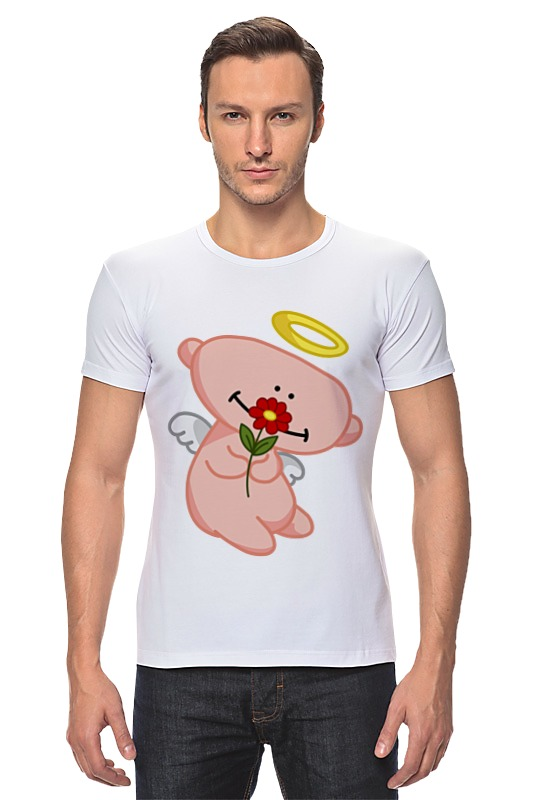 Футболка Стрэйч Printio Ангел с цветком анатолий ярмолюк поспорил ангел с демоном