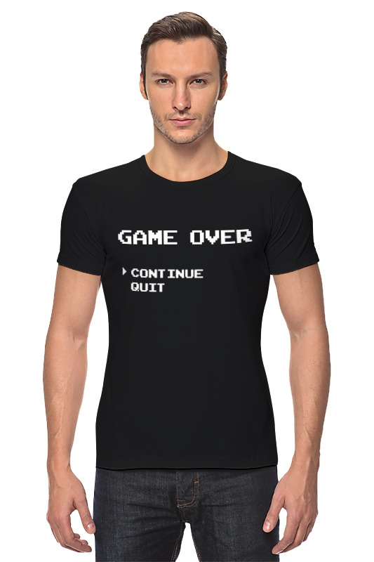 Футболка Стрэйч Printio Game over (8-bit) r12 sexy game