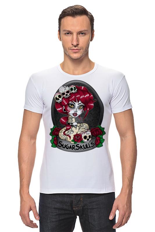 Футболка Стрэйч Printio Sugar skull girl футболка print bar sugar box