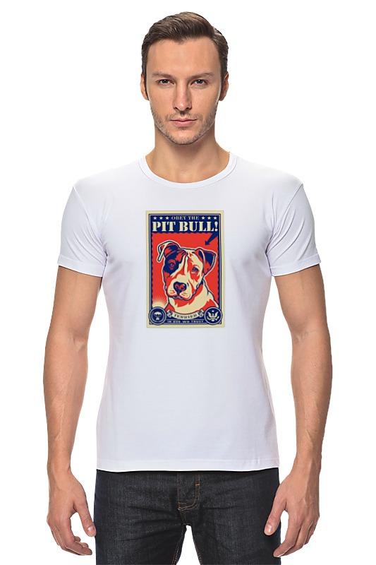 Футболка Стрэйч Printio Собака: pit bull футболка для беременных printio бешенный бык raging bull
