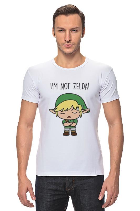 Футболка Стрэйч Printio I'm not zelda! черепаха плетёная zelda