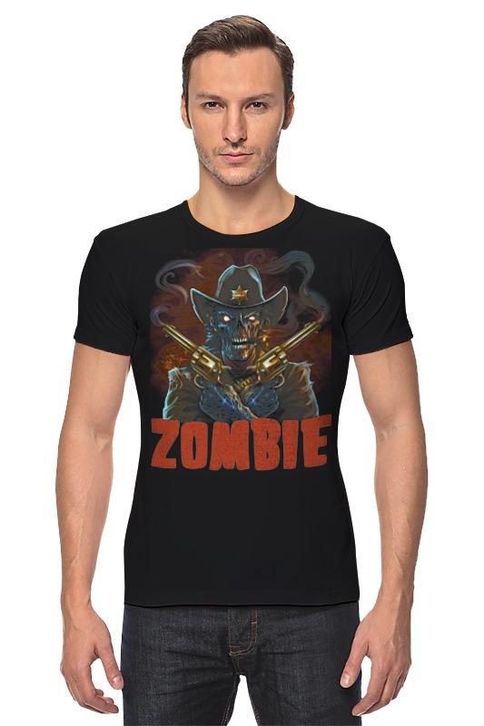 Футболка Стрэйч Printio Zombie sheriff брелок автосигнализации sheriff 2500 ver 1
