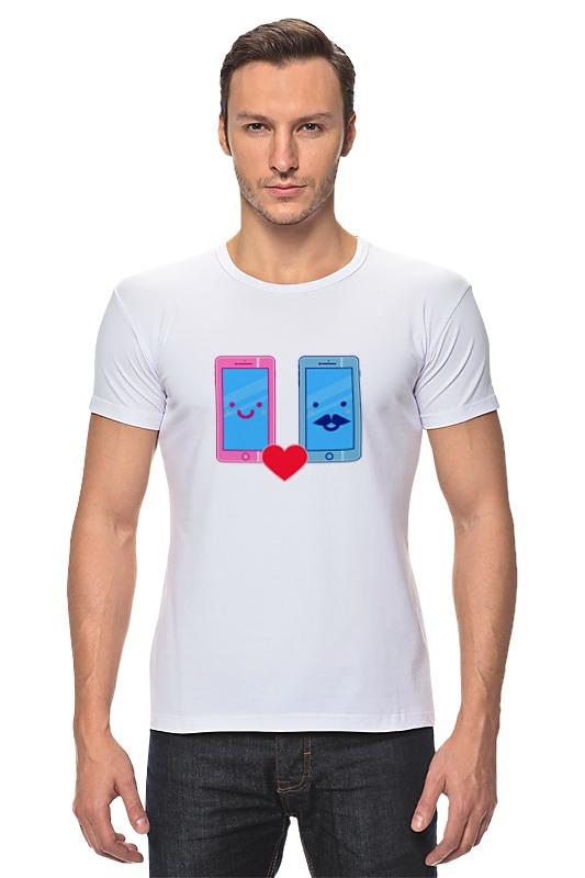 Футболка Стрэйч Printio Телефоны влюблены телефоны