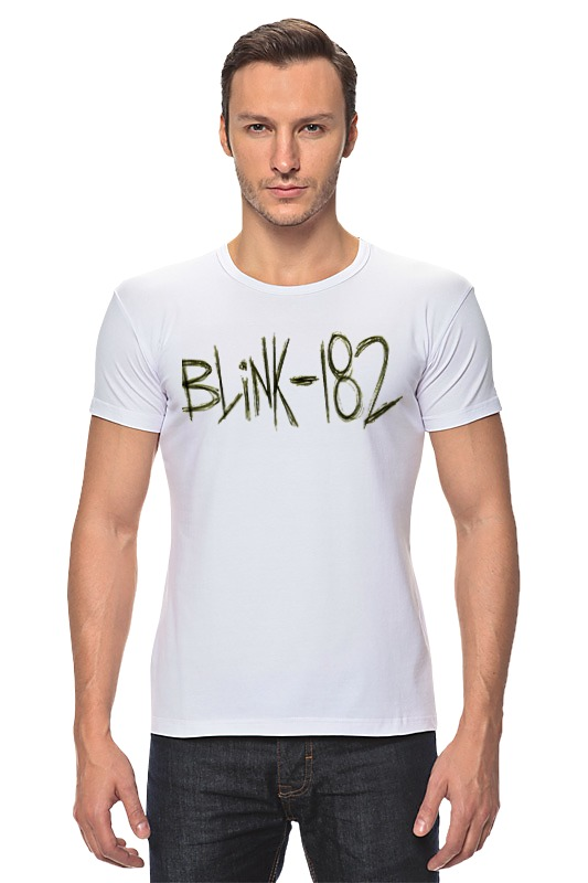 Футболка Стрэйч Printio Blink-182 yellow logo