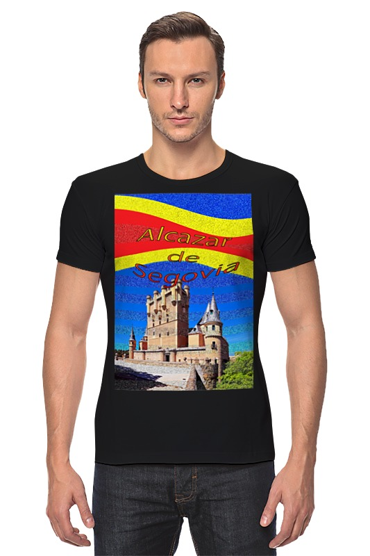 Футболка Стрэйч Printio Замки испании. замок сеговия. deroace велосипедный цепной стальной замок для электрокара электро мотороллера мотора