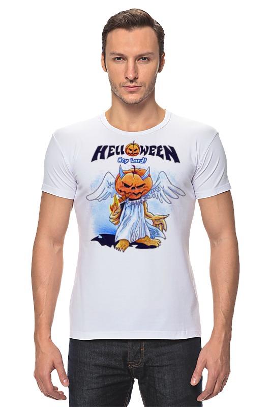Футболка Стрэйч Printio Helloween ( rock band ) helloween madrid
