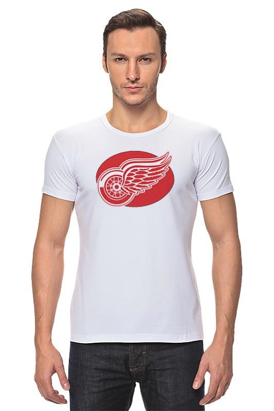 Футболка Стрэйч Printio Detroit red wings / nhl usa детская футболка классическая унисекс printio detroit red wings nhl usa