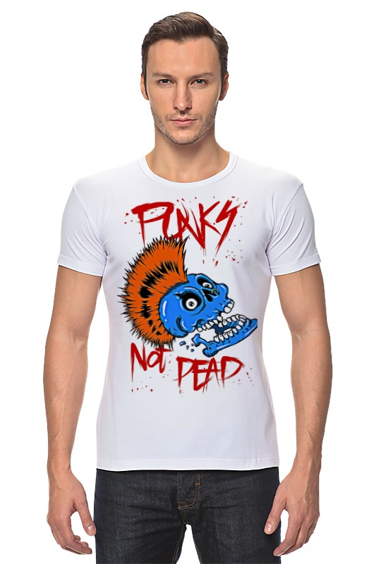Футболка Стрэйч Printio Punks not dead сумка printio панки живы punks not dead