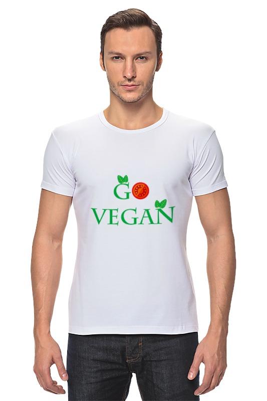Футболка Стрэйч Printio Go vegan женские часы go girl only go 694925