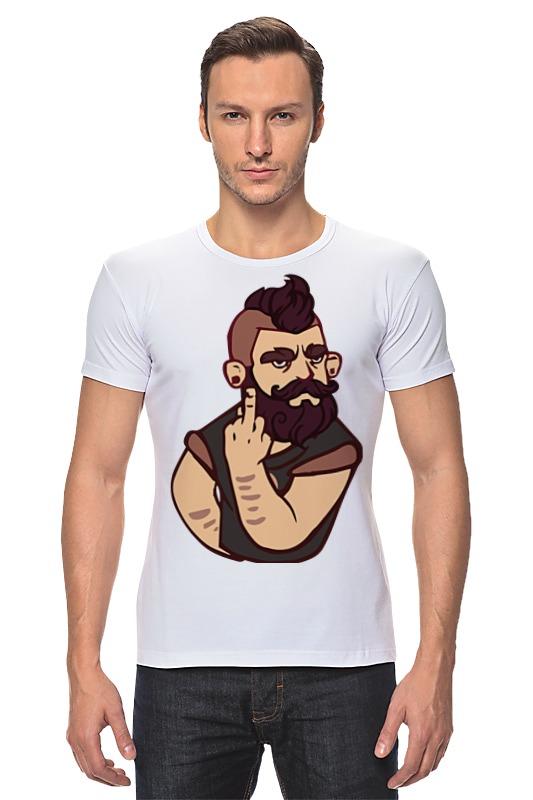 Футболка Стрэйч Printio Bearded / бородач обложка для паспорта printio bearded бородач