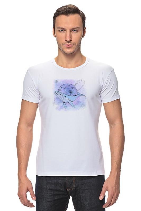 Футболка Стрэйч Printio Космический кит футболка для беременных printio кит ричардс