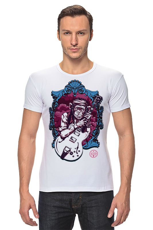 Футболка Стрэйч Printio Кит ричардс футболка с полной запечаткой для девочек printio планета обезьян planet of the apes