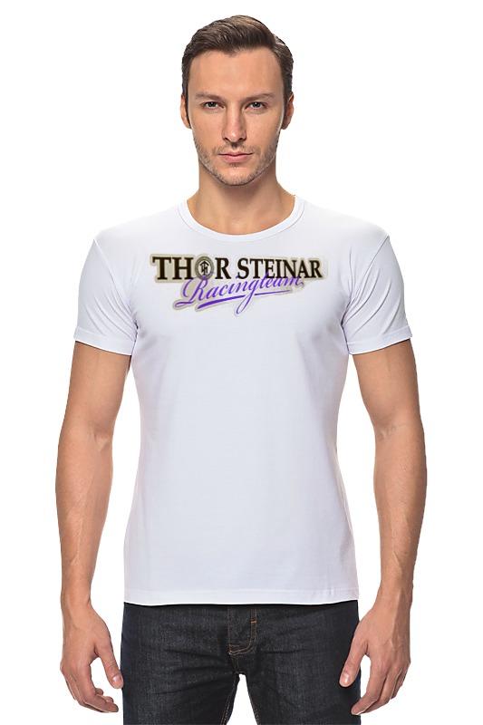цена Футболка Стрэйч Printio Thor steinar brand онлайн в 2017 году
