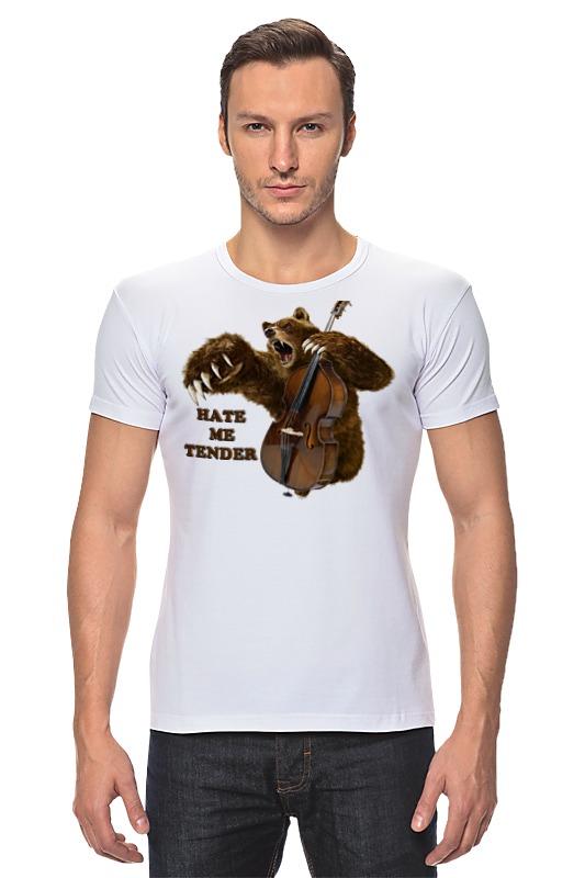 Футболка Стрэйч Printio Мишка контрабасист футболка для беременных printio мишка me to you