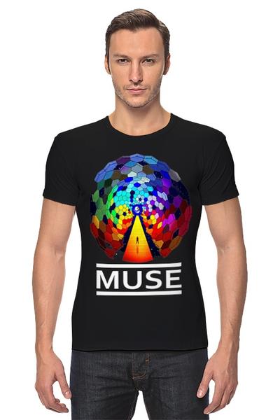"Футболка Стрэйч ""MUSE! Resistance"" - рок, муза, muse, мьюз, для фанатов-мьюзеров"