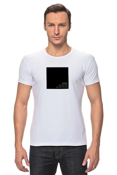 """Футболка Стрэйч """"Черный квадрат"""" - black, цвет, дизайнер, минимализм, малевич"""