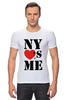 """Футболка Стрэйч (Мужская) """"NY"""" - i love, ny, nyc"""