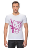 "Футболка Стрэйч ""Hello Kitty AK-47"" - hello kitty, ak 47, angry kitty"