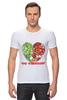 """Футболка Стрэйч (Мужская) """"GO VEGGIE!"""" - вегетарианец, сыроед, овощи, veggies"""