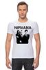 "Футболка Стрэйч ""nirvana"" - grunge, гранж, nirvana, kurt cobain, курт кобейн, нирвана, альтернативный рок"