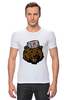 "Футболка Стрэйч ""Russian Bear (Русский медведь)"" - bear, медведь, россия, russia, путин"