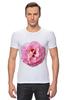 """Футболка Стрэйч """"Розовый бутон"""" - лето, цветы, розовый"""