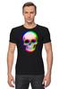 """Футболка Стрэйч (Мужская) """"Череп 3D"""" - skull, череп, абстракция, 3d"""