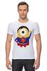"""Футболка Стрэйч """"Миньон супермен"""" - супермен, superman, миньоны, гадкий я, minion"""