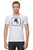 """Футболка Стрэйч (Мужская) """"Rockstar"""" - авторские майки, games, игры, игра, game, gamer, gta, rockstar, рокстар, rockstar games"""
