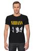 "Футболка Стрэйч (Мужская) ""Nirvana "" - гранж, nirvana, kurt cobain, курт кобейн, нирвана"