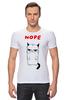"""Футболка Стрэйч """"Угрюмый Кот"""" - мем, коты, grumpy cat, nope, угрюмый кот"""