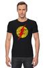 """Футболка Стрэйч """"Flash (Молния)"""" - flash, молния, хохлома, флэш"""