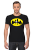 """Футболка Стрэйч (Мужская) """"Бэтмен (Batman)"""" - пародия, batman, бэтмен"""