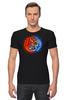 """Футболка Стрэйч (Мужская) """"Yin Yang"""" - орёл, тигр, инь янь, yin yang, инь и янь"""