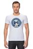 """Футболка Стрэйч """"Columbus Blue Jackets / NHL USA"""" - usa, nhl, columbus blue jackets, kinoart"""