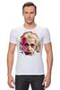 "Футболка Стрэйч (Мужская) ""Альберт Эйнштейн (Albert Einstein)"" - albert einstein, физика, полигоны, polygons, альберт эйнштейн"