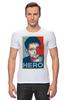 """Футболка Стрэйч (Мужская) """"Герой (Эдвард Сноуден)"""" - obey, hero, edward snowden, эдвард сноуден"""