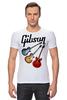 """Футболка Стрэйч (Мужская) """"Gibson"""" - гитара, рок, gibson, гибсон"""