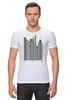 "Футболка Стрэйч (Мужская) ""Сити-код"" - арт, город, дизайн, city, код, barcode, урбанизм"