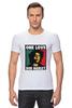 """Футболка Стрэйч (Мужская) """"Bob Marley """" - любовь, регги, боб марли, reggae, ska, jamaica"""